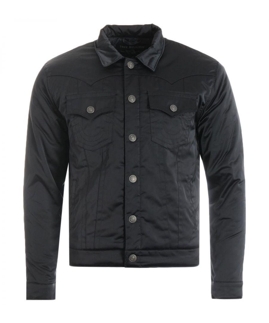 Image for True Religion Jimmy Satin Jacket - Black