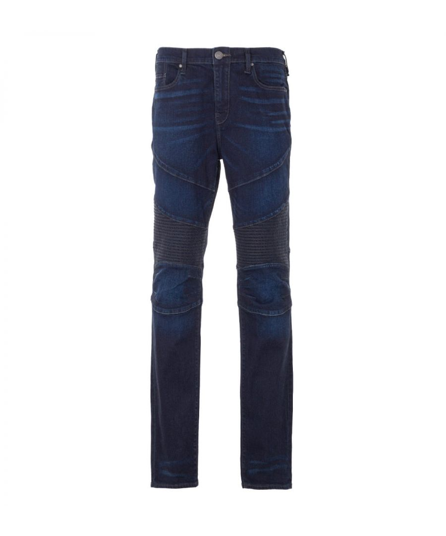 Image for True Religion Rocco Moto Relaxed Skinny Jeans - Dark Dusty Trail