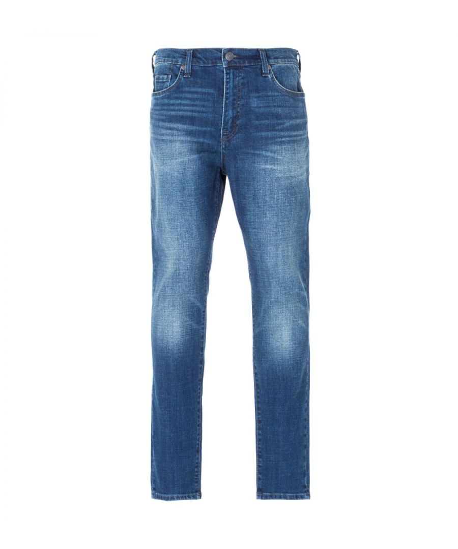 Image for True Religion Mick Slouchy Skinny Jeans - Ranch Hand Blue