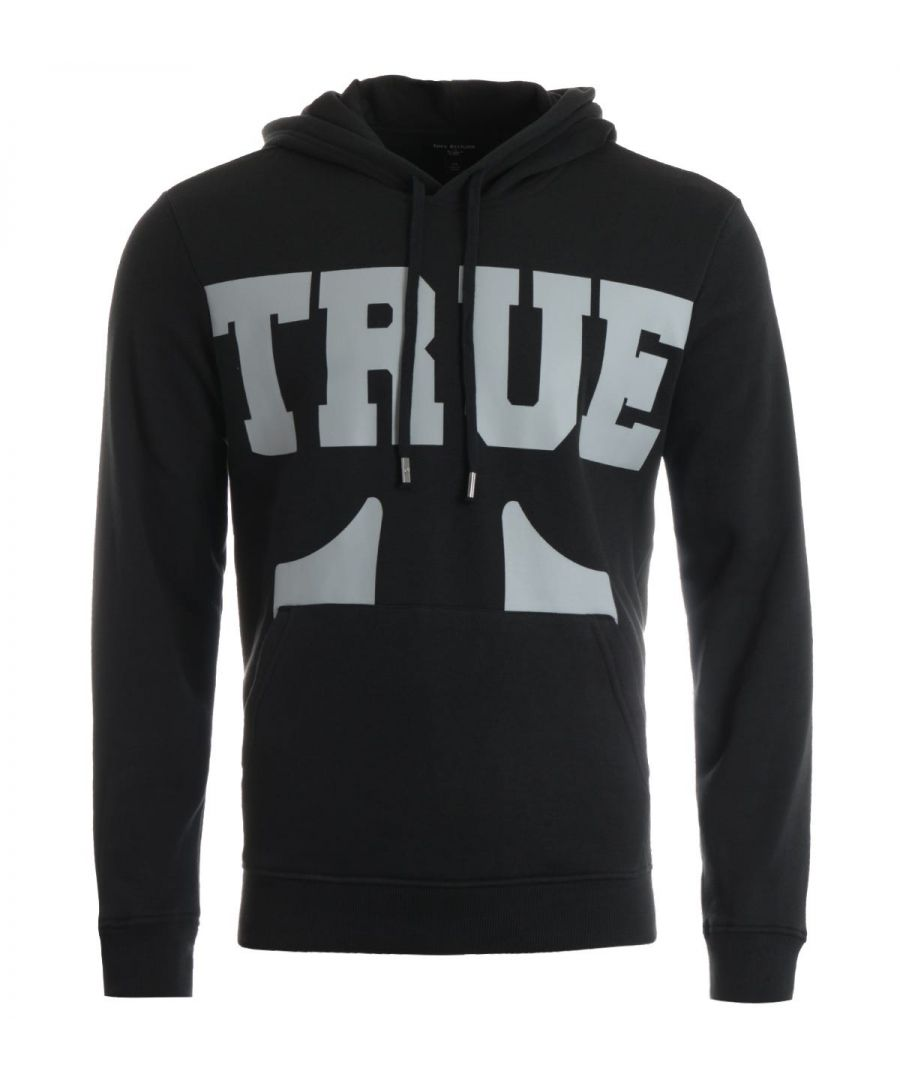 Image for True Religion True Logo Hooded Sweatshirt - Coal