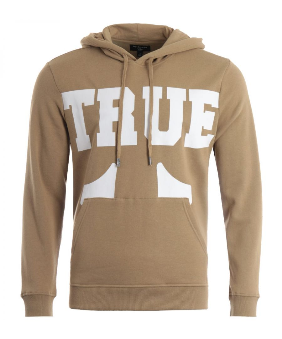 Image for True Religion True Logo Hooded Sweatshirt - Beige