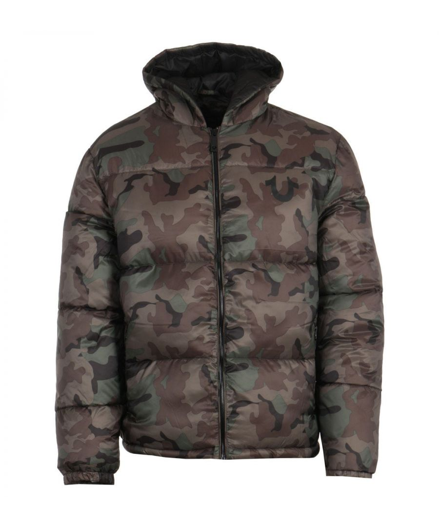 Image for True Religion Hooded Puffer Jacket - Camo