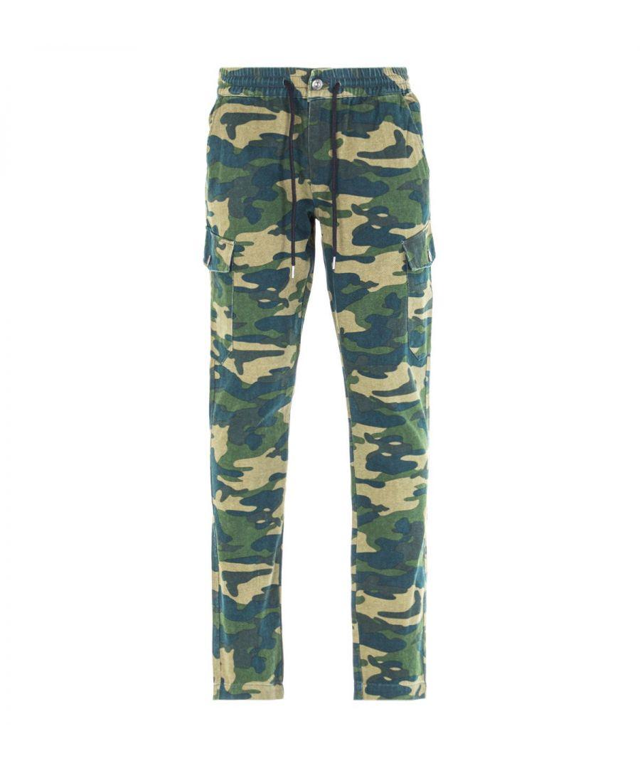 Image for True Religion Green Camo Cargo Pants