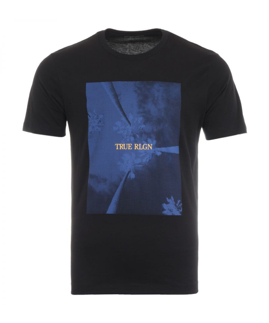 Image for True Religion Palm Tree T-Shirt - Black