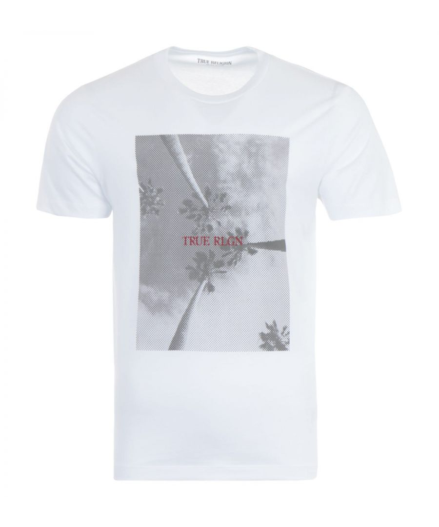 Image for True Religion Palm Tree T-Shirt - White