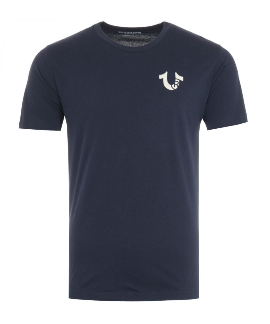 Image for True Religion Letter Logo T-Shirt - Dark Navy
