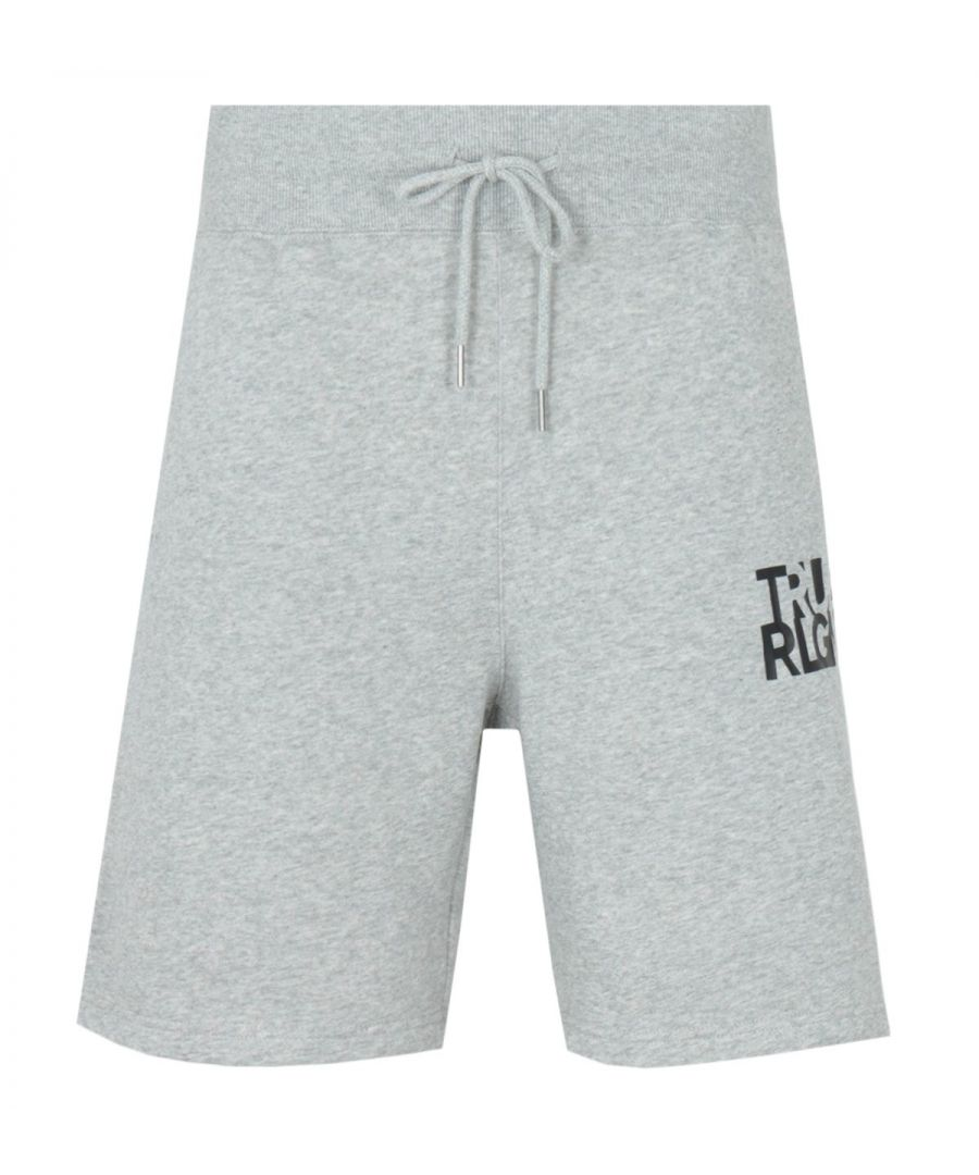 Image for True Religion Lettering Logo Sweat Shorts - Heather Grey