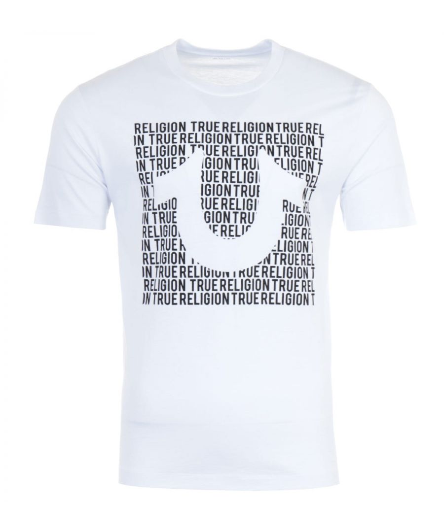 Image for True Religion U Script Crewneck T-Shirt - White
