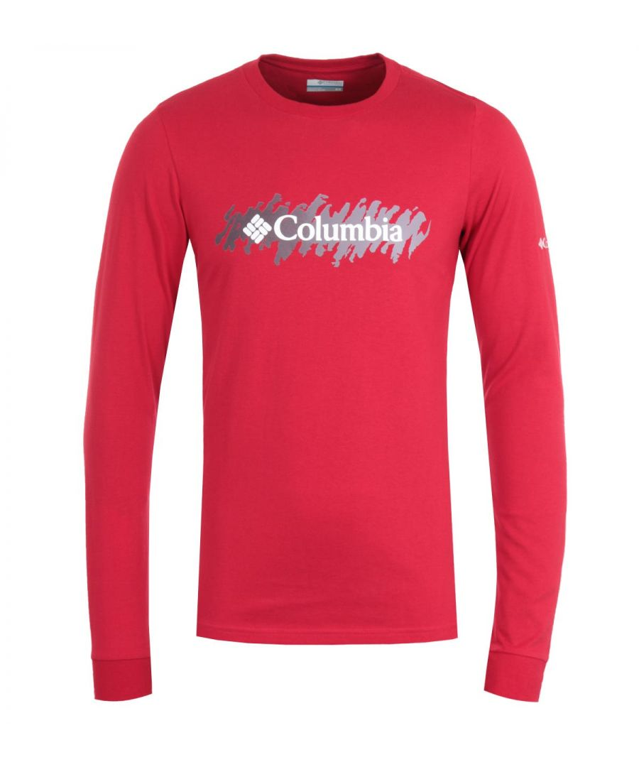 Image for Columbia Lodge Retro Squiggle Long Sleeve T-Shirt - Red