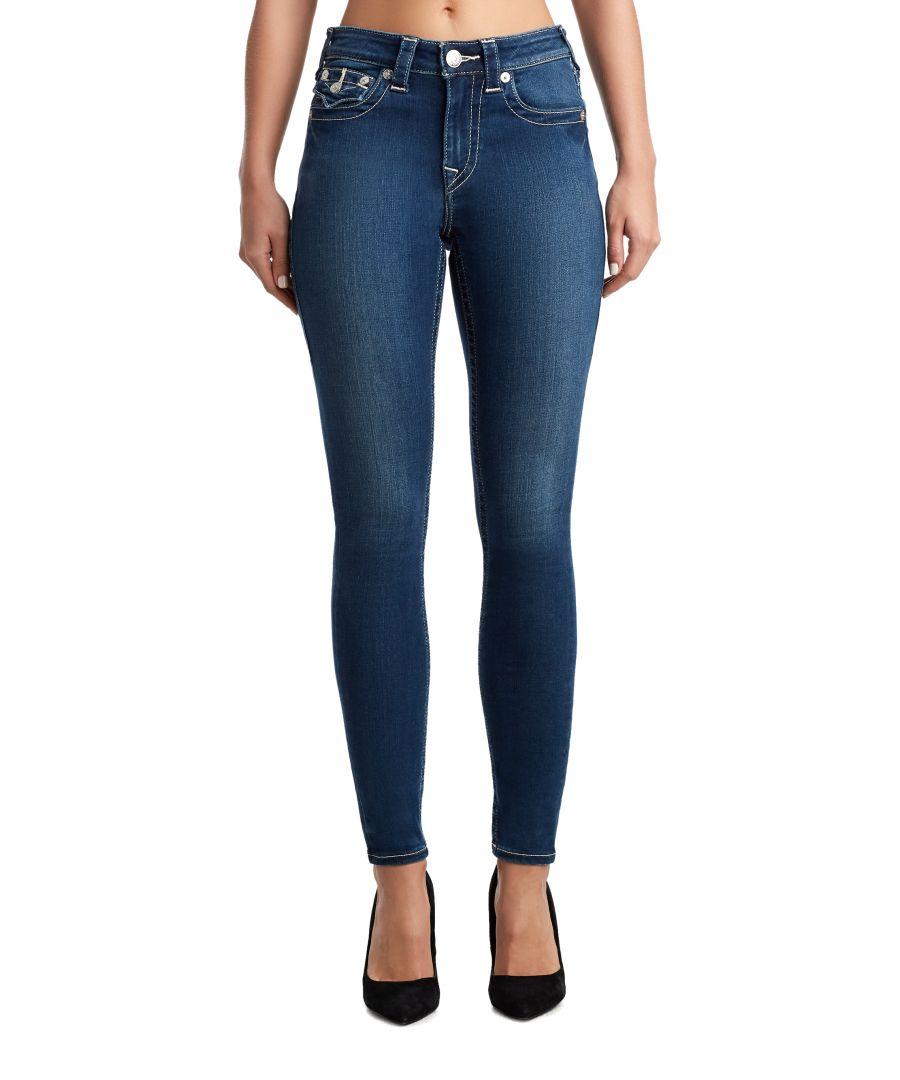Image for True Religion Womens Jennie Curvy Skinny Jeans - Blue