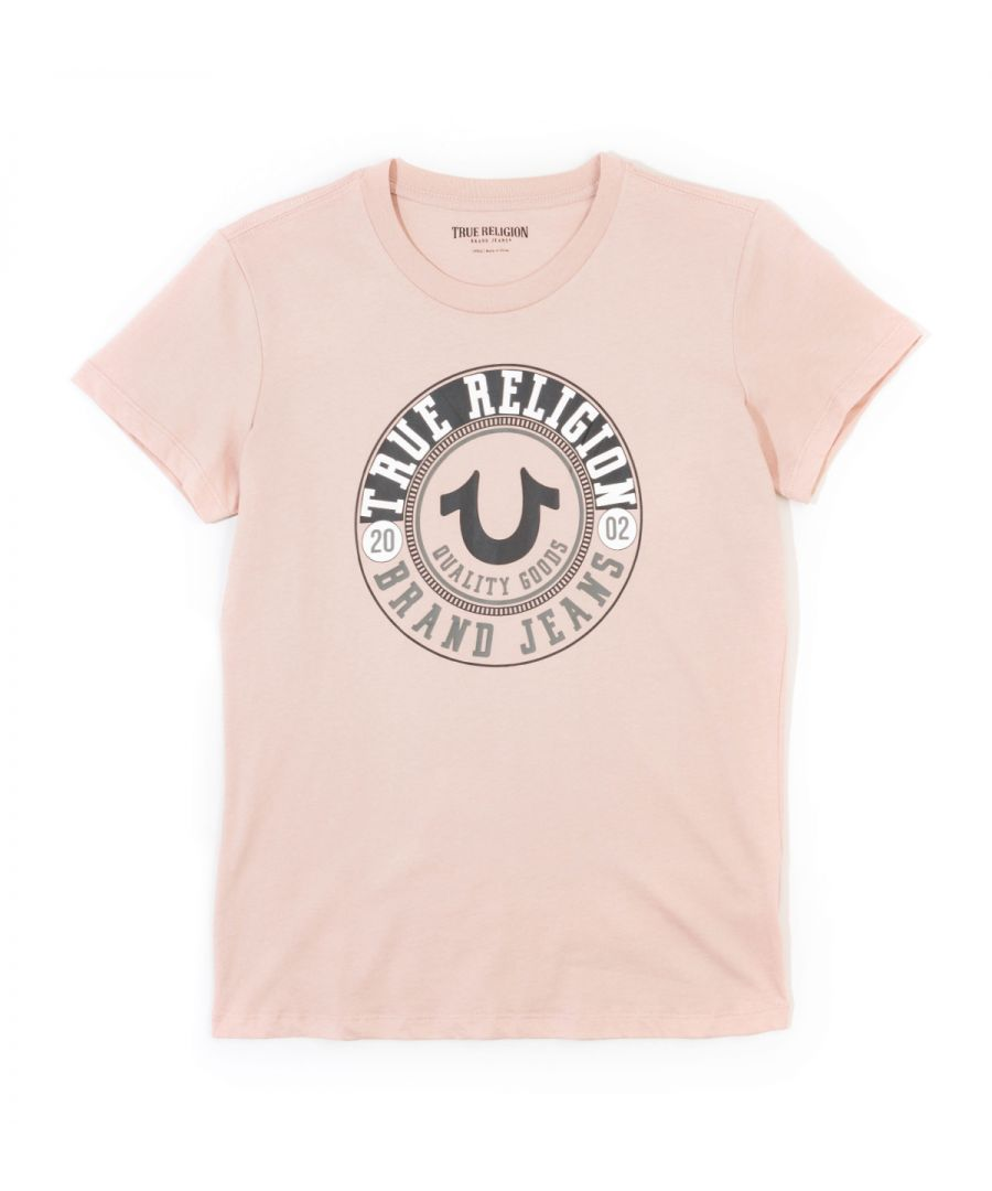 Image for True Religion Womens Circle Logo Tee - Dusty Pink