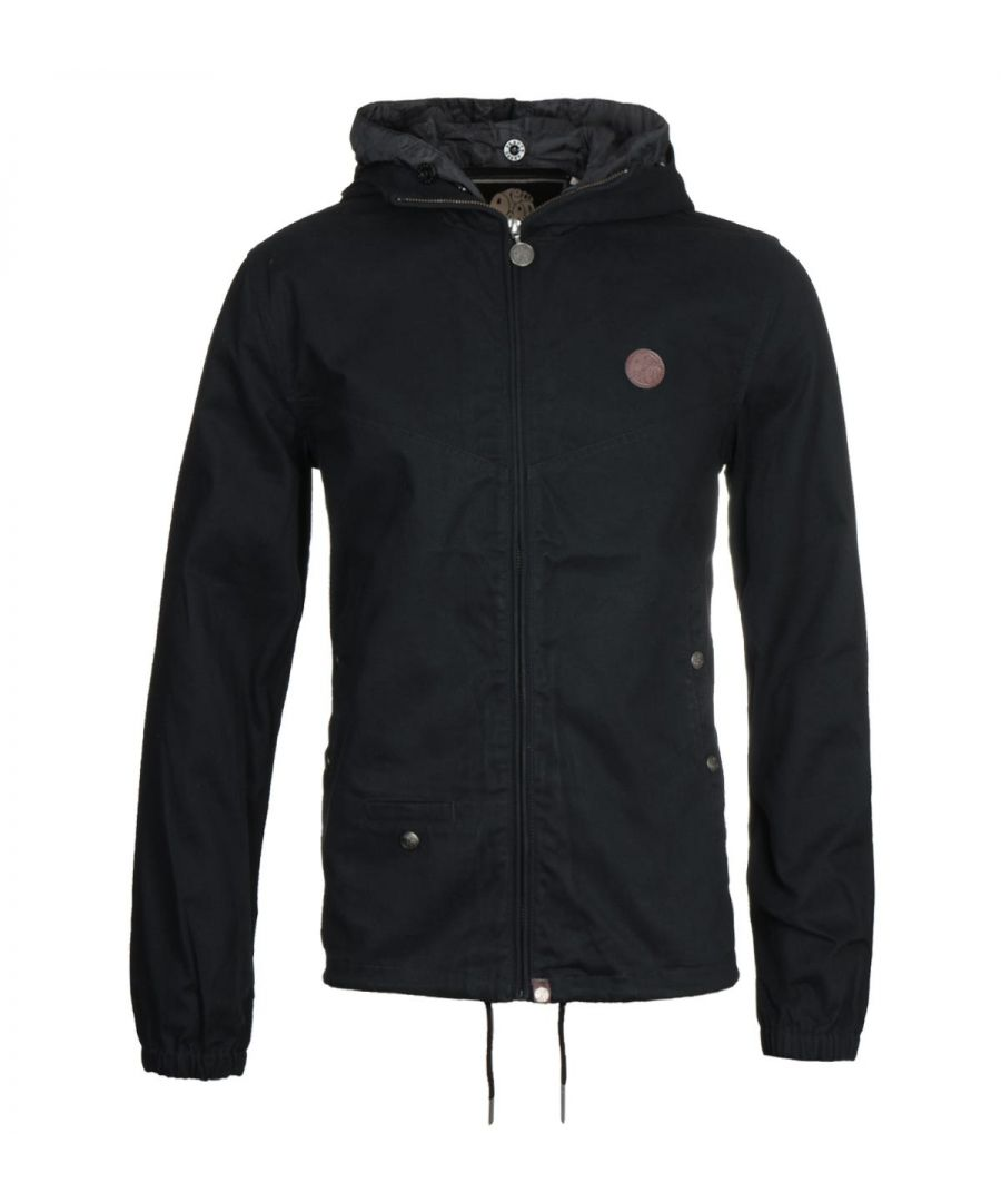 Image for Pretty Green Zip Up Black Hooded Jacket