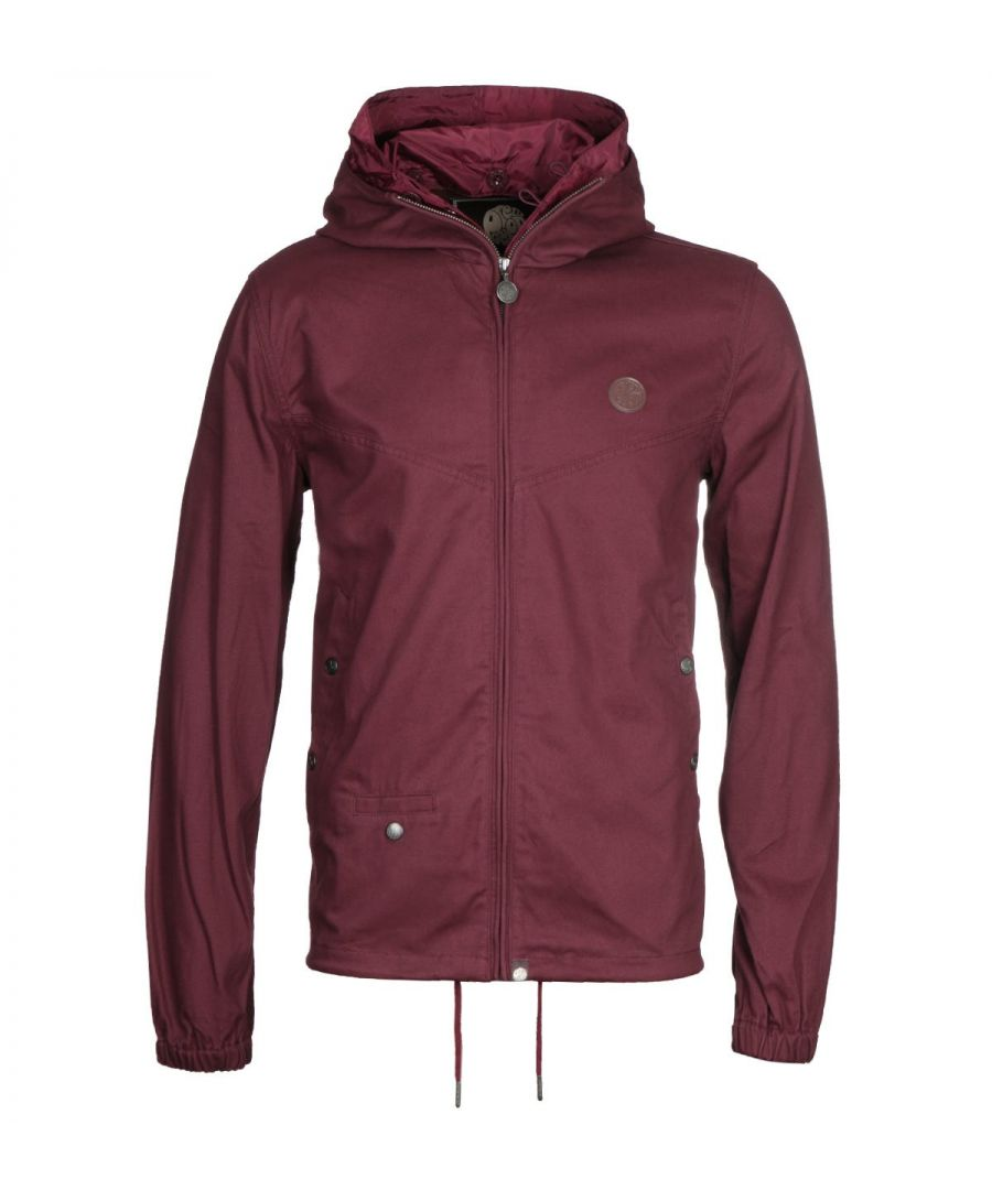 Image for Pretty Green Zip Up Burgundy Hooded Jacket
