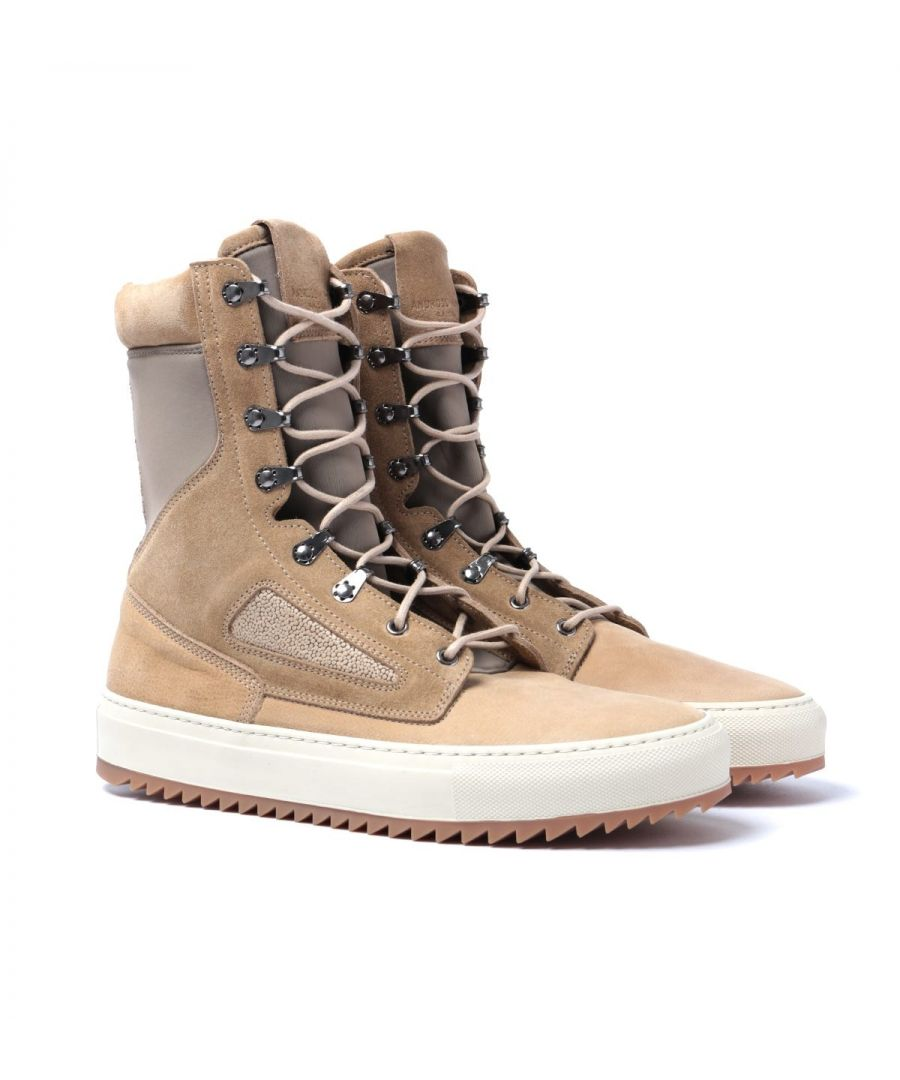 Image for Android Homme Tan Suede Tactical Boots
