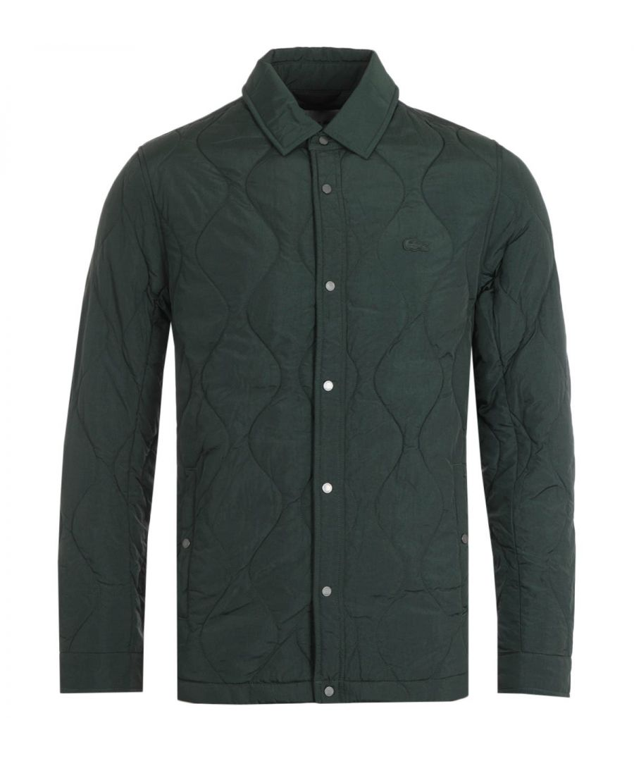 Image for Lacoste Dark Green Quilted Jacket
