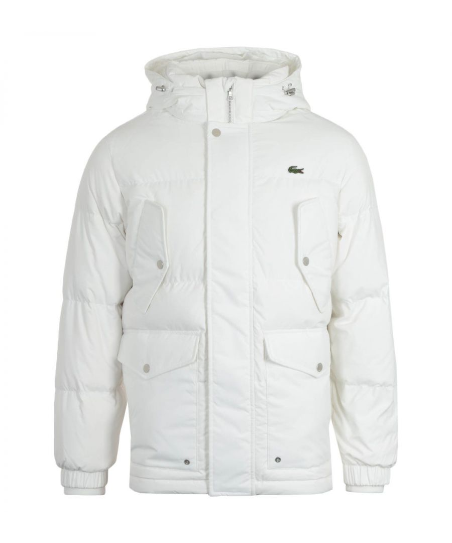 Image for Lacoste Water Repellent White Down Jacket