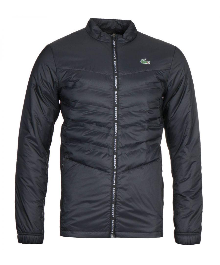 Image for Lacoste Black Zip Through Jacket