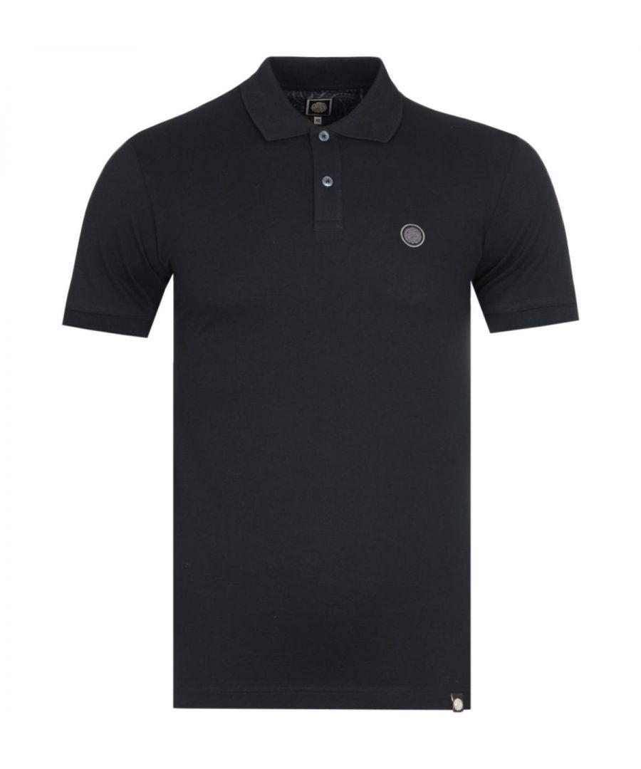 Image for Pretty Green Hartford Short Sleeve Black Pique Polo Shirt