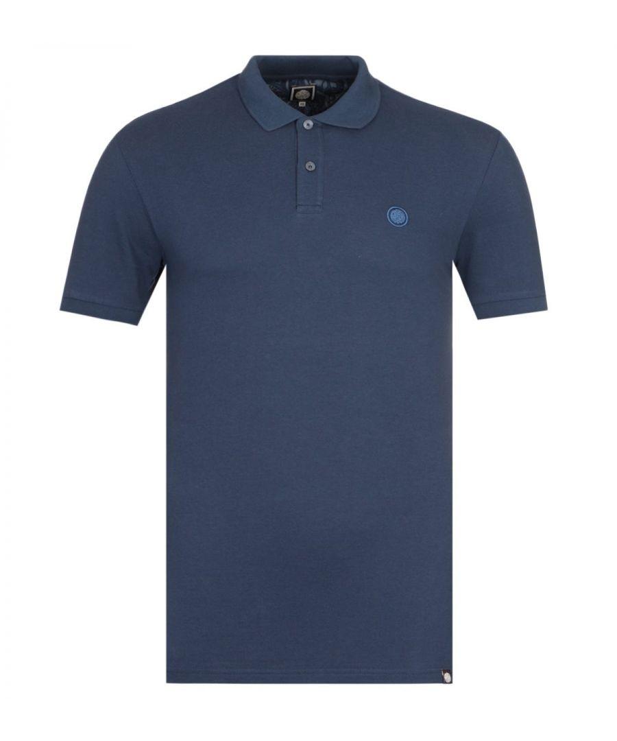 Image for Pretty Green Hartford Short Sleeve Navy Pique Polo Shirt