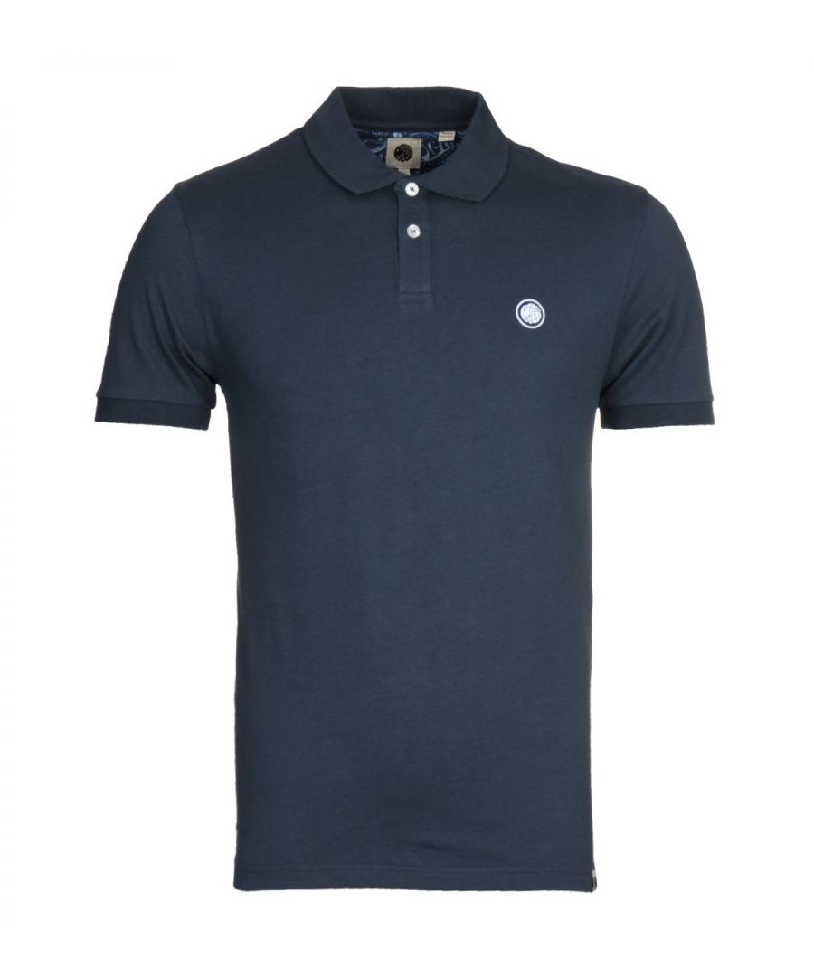 Image for Pretty Green Tendale Navy Jersey Polo Shirt