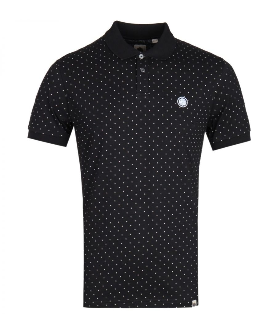Image for Pretty Green Polka Dot Black Polo Shirt