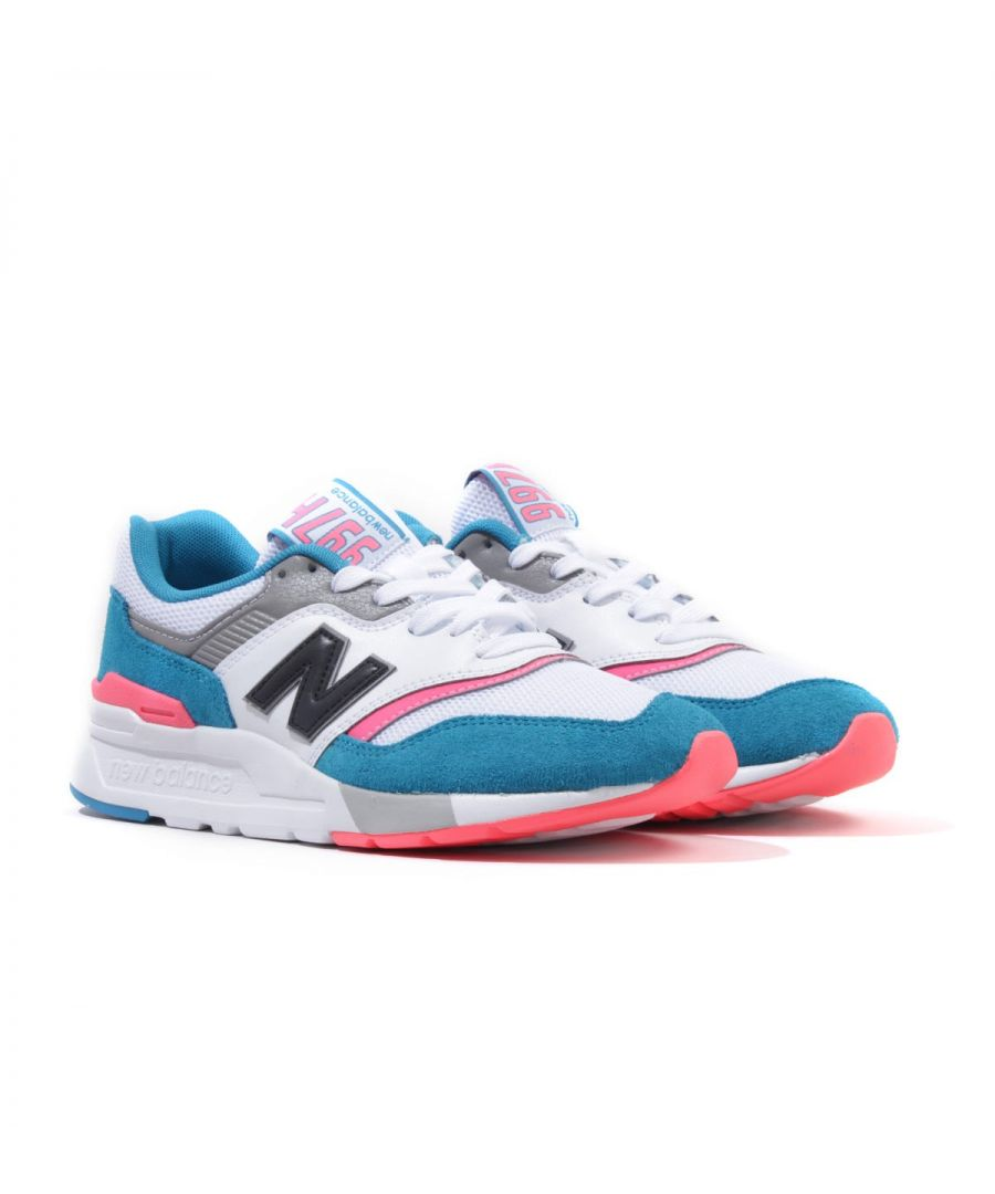 Image for New Balance 997H Suede Trainers - Deep Ozone Blue & Guava