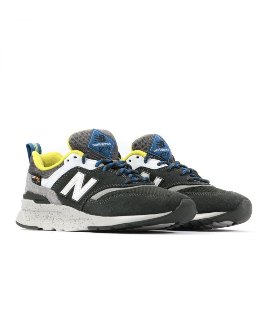 Image for New Balance 997H Cordura Suede Trainers - Rifle Green & Sulphur Yellow