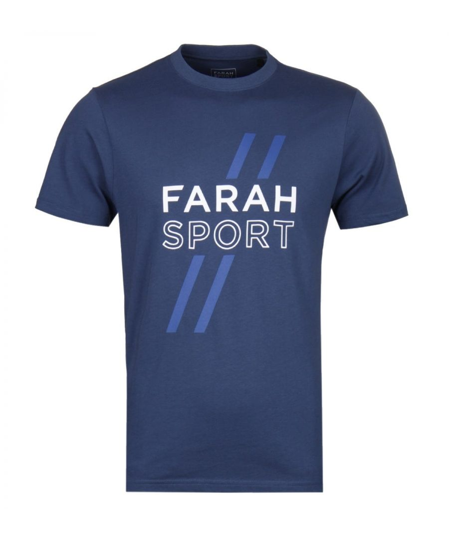Image for Farah Johnstone Blue Graphic Tee