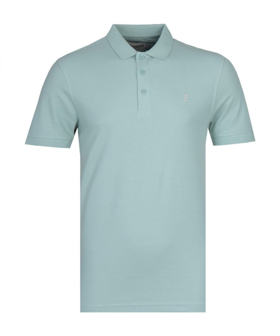 Image for Farah Modern Fit Limited Edition Cove 100 Pastel Green Polo Shirt