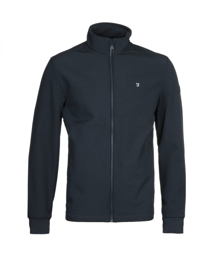 Image for Farah Linstead Softshell Navy Jacket