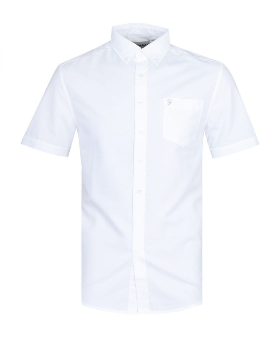 Image for Farah Regular Fit Short Sleeve Button-Down White Shirt