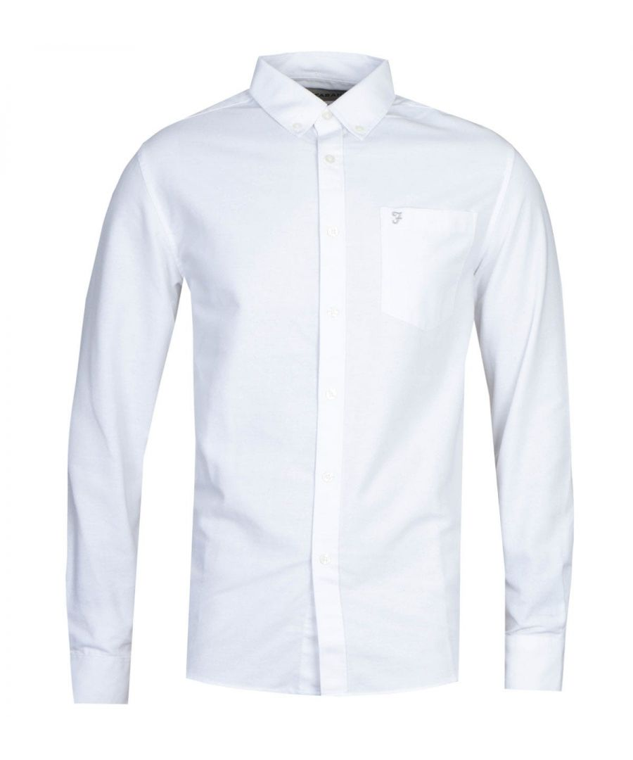 Image for Farah Drayton Long Sleeve White Shirt
