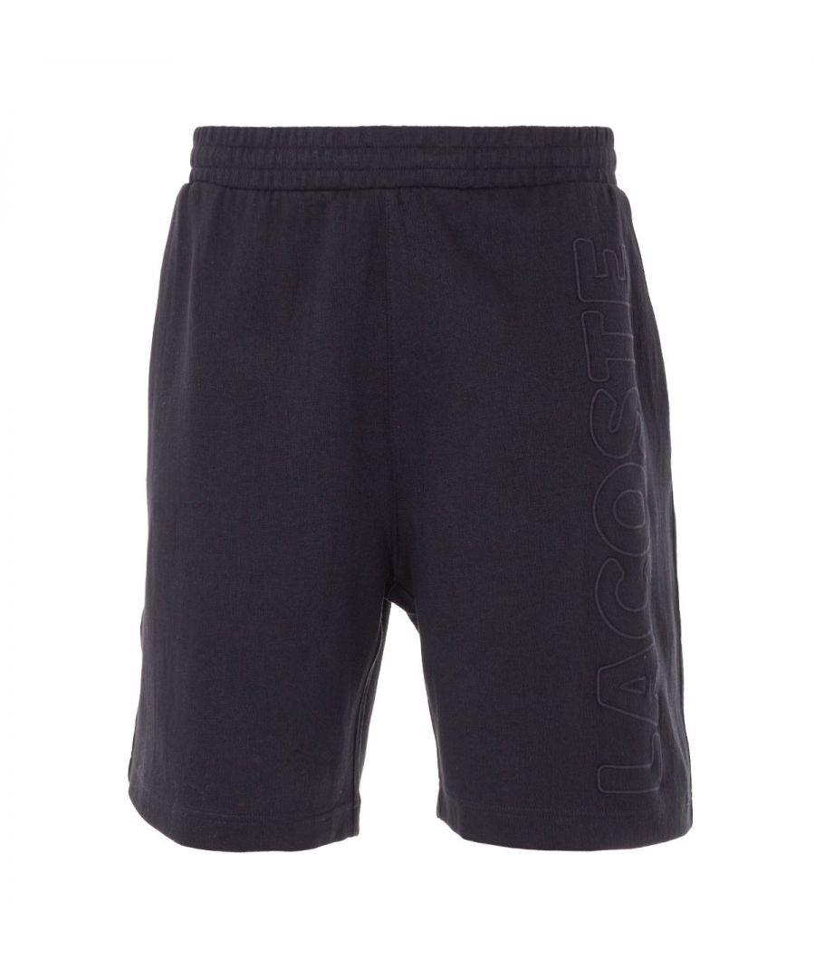 Image for Lacoste LIVE Tonal Logo Sweat Shorts - Black