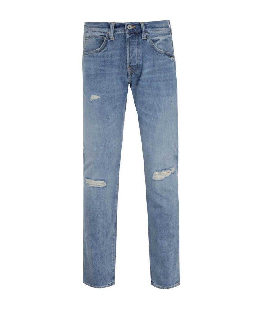Image for Edwin ED-55 Regular Tapered Fit Rainbow Selvage Light Blue Denim Jeans