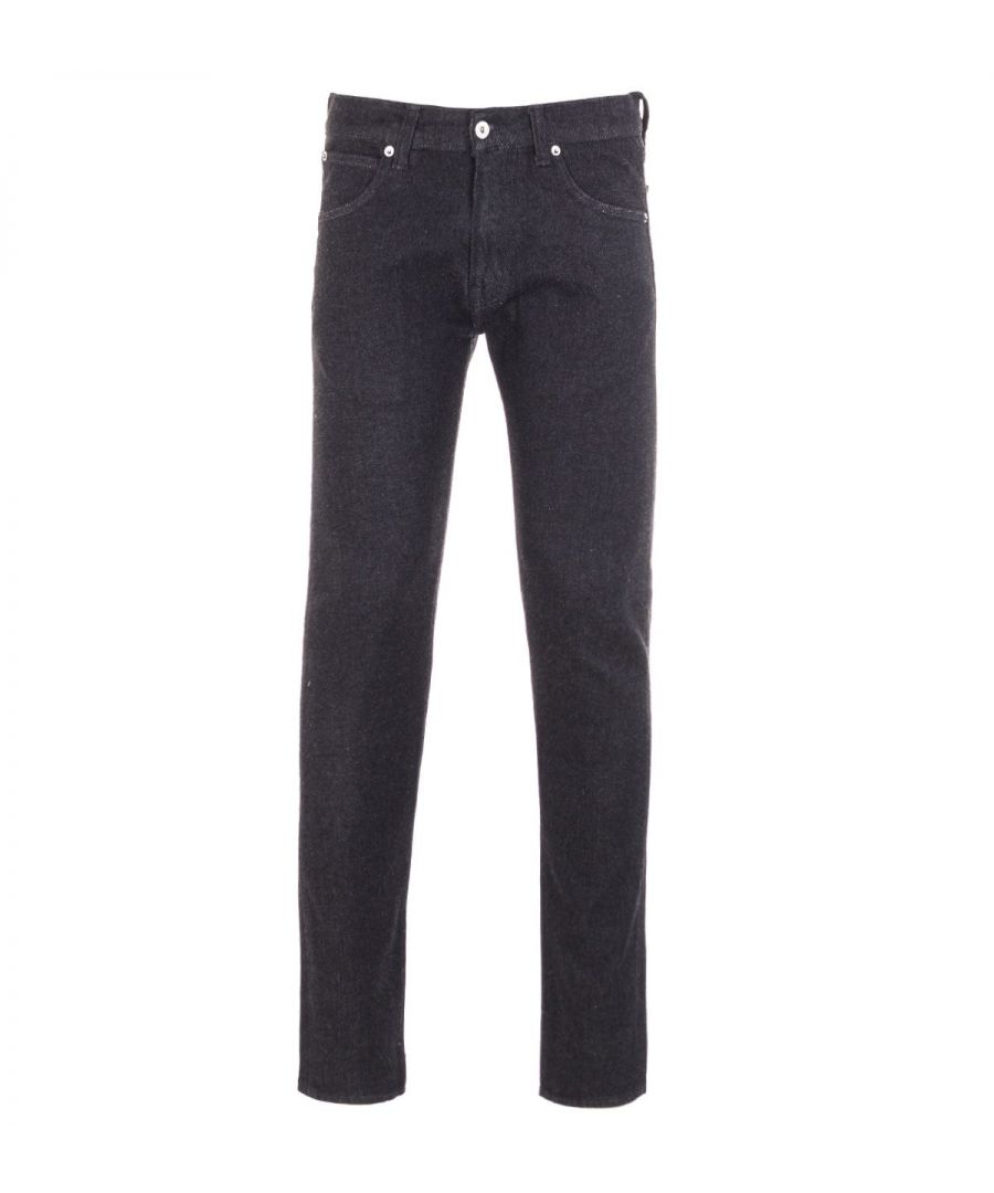 Image for Edwin ED-85 Slim Tapered Jeans - Rinsed Ayano Black