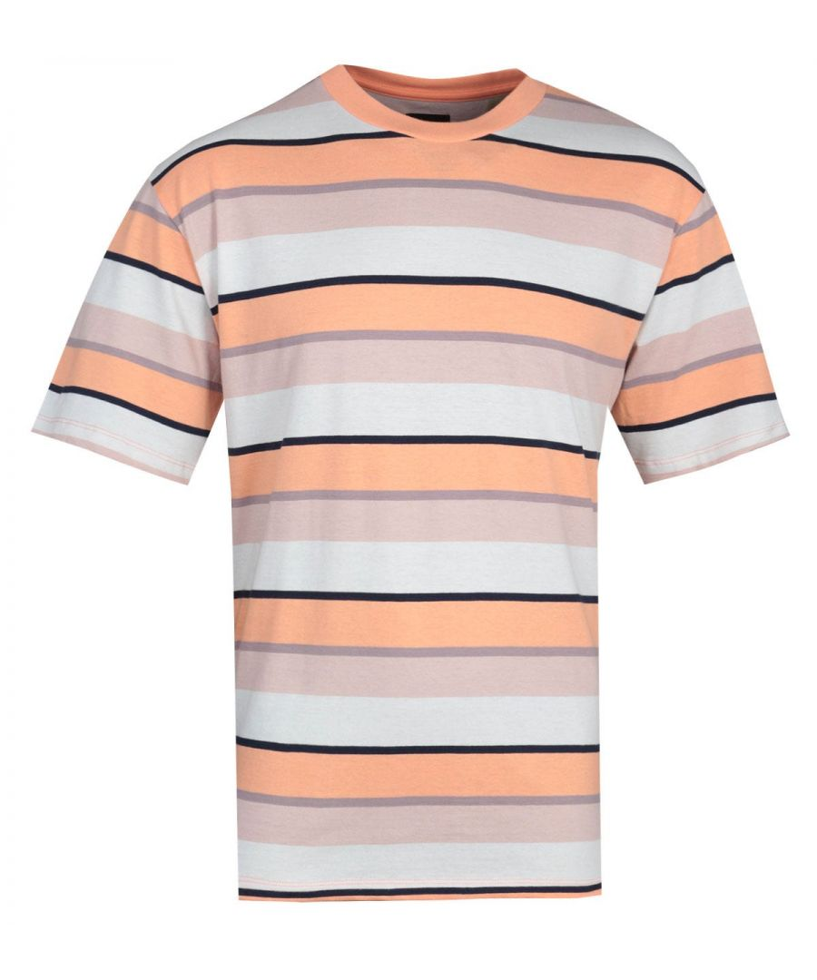 Image for Edwin Quarter Cantaloupe Beige Stripes T-Shirt