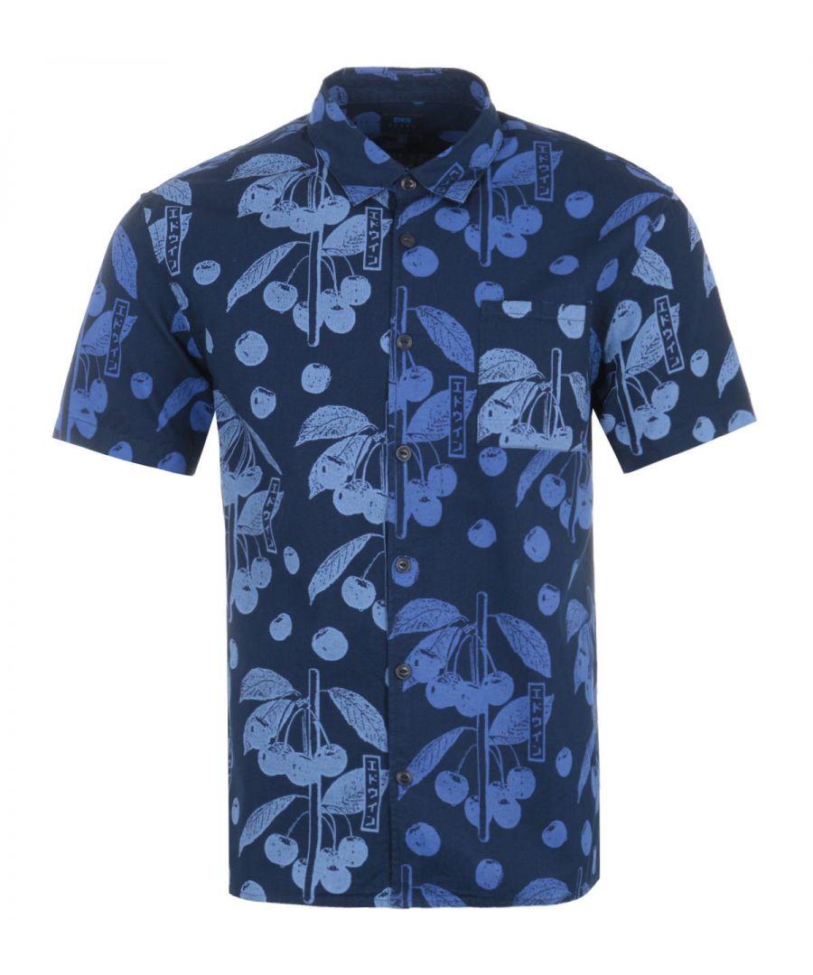 Image for Edwin Coast Short Sleeve Shirt - Indigo