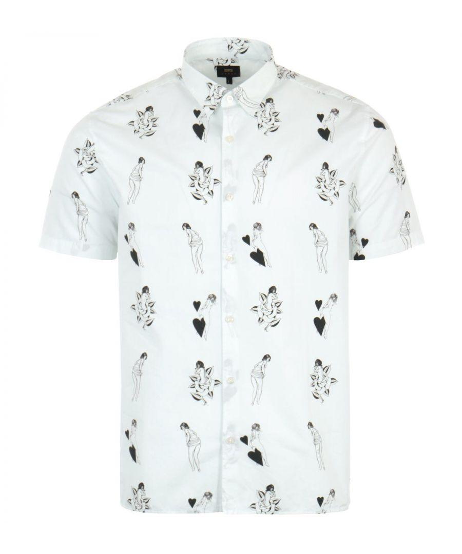 Image for Edwin Nimes Short Sleeve Shirt - White