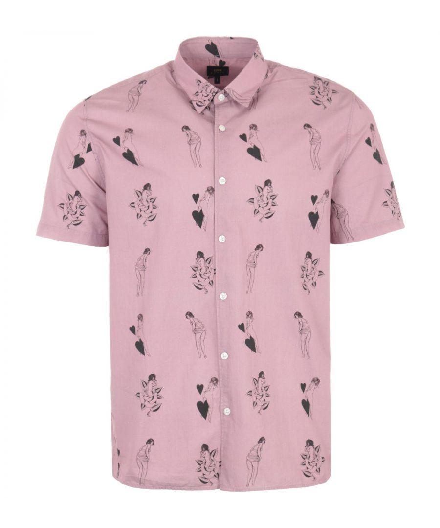 Image for Edwin Nimes Short Sleeve Shirt - Woodrose