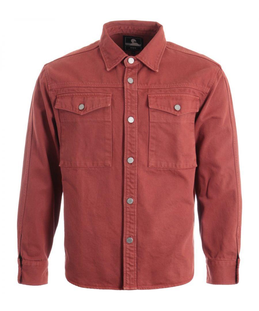 Image for Edwin Valter Cotton Denim Shirt - Auburn