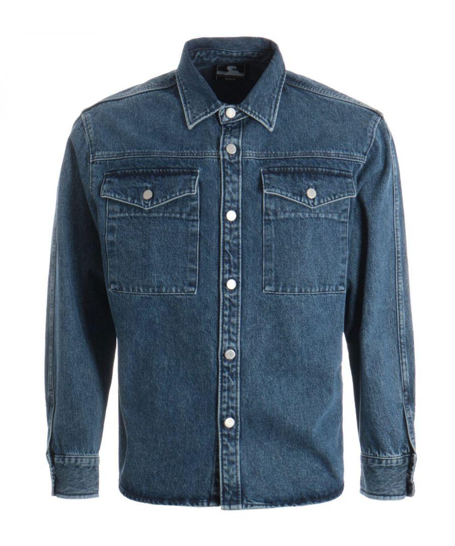 Image for Edwin Valter Cotton Denim Shirt - Arctic Blue