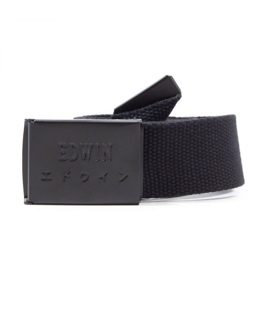 Image for Edwin Webbing Black Clip Belt