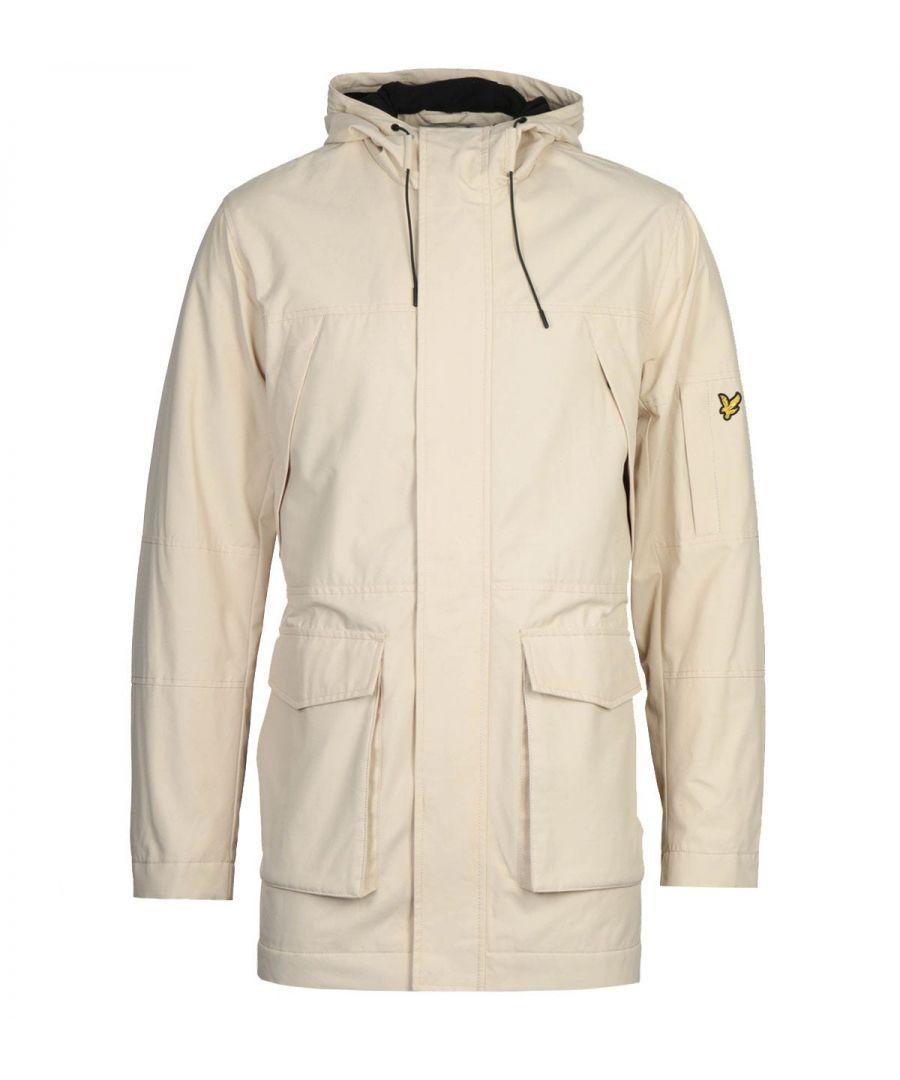 Image for Lyle & Scott Beige Panelled Parka Jacket
