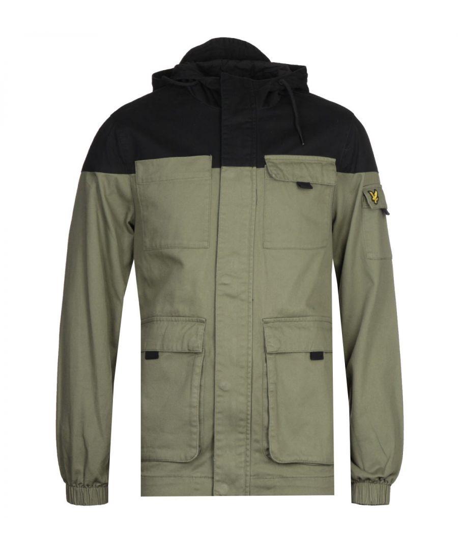 Image for Lyle & Scott Lichen Green Contrast Yoke Jacket