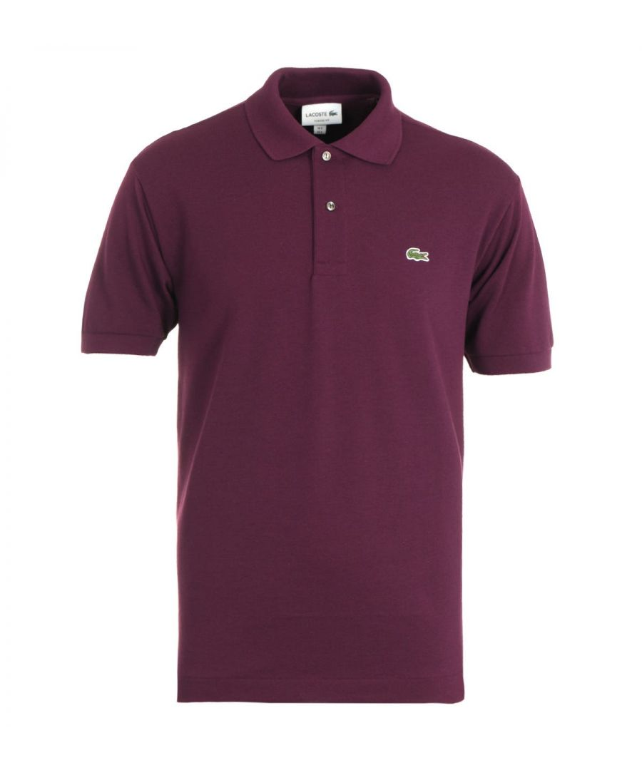 Image for Lacoste Classic Fit Aubergine Polo Shirt