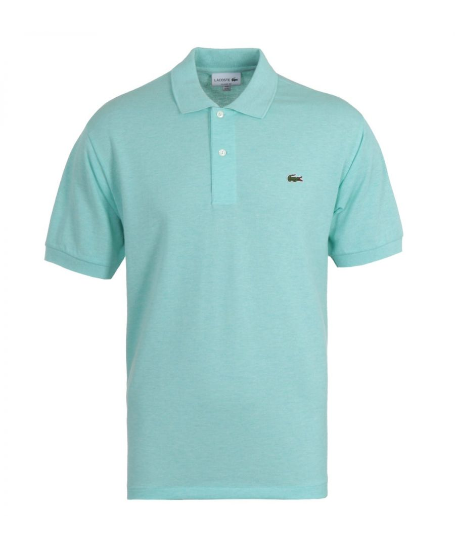 Image for Lacoste Classic Fit Marled Seafoam Polo Shirt