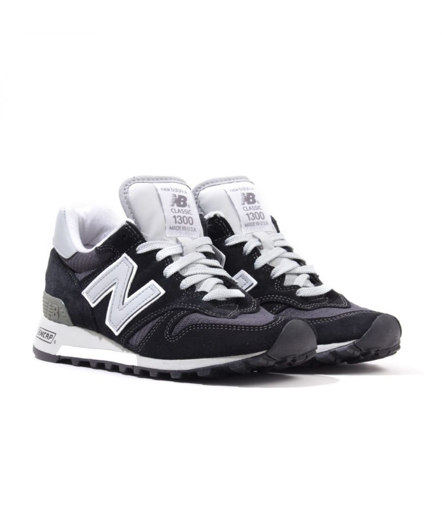 Image for New Balance 1300 Made in the USA Suede Trainers - Black & Grey