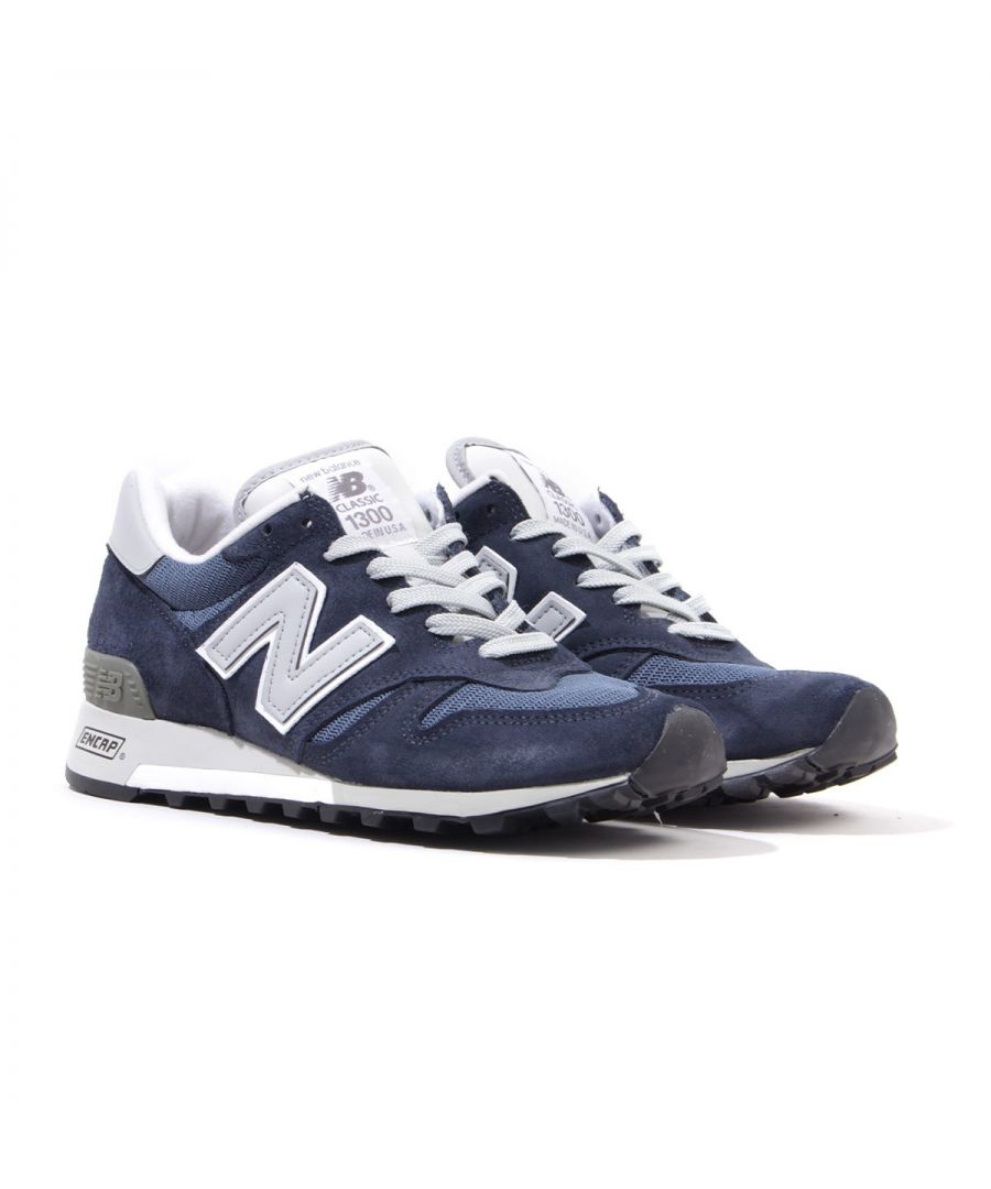 Image for New Balance 1300 Made in the USA Suede Trainers - Navy