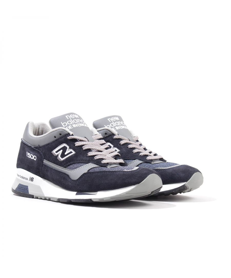 Image for New Balance 1500 Made in England Suede Trainers - Navy & Grey