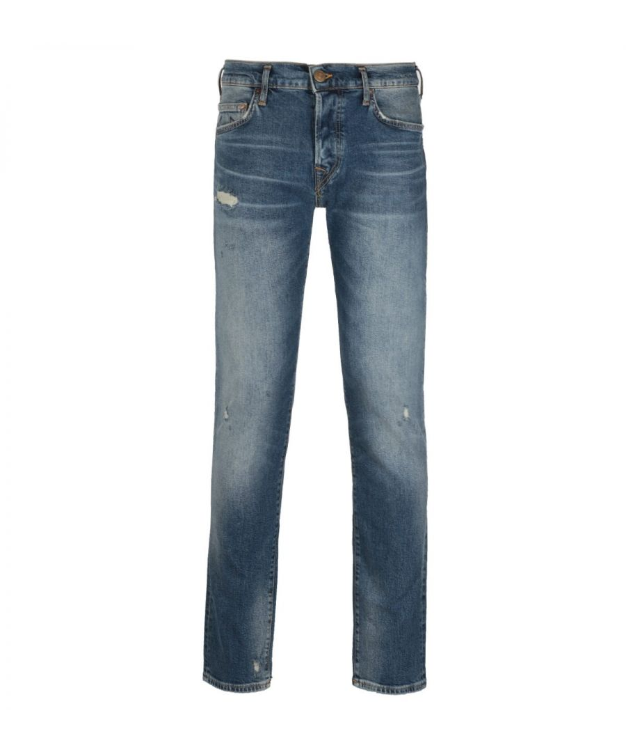 Image for True Religion Rocco Relaxed Skinny Fit No Flap Blue Denim Jeans